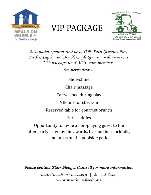 Golf VIP Package